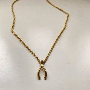 Kate Spade gold wish bone necklace